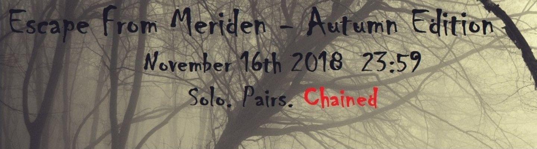 Escape from Meriden Autumn 2018 banner image