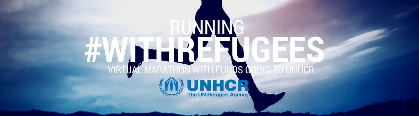 Running with Refugees virtual marathon 2019 banner image