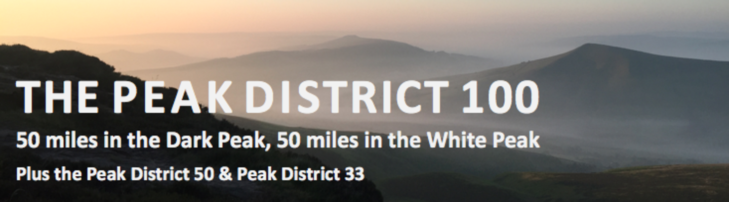 Peak District 100 Ultramarathon (inc Peak District 50 & 33) banner image