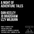 A Night of Adventure Tales - 15 March