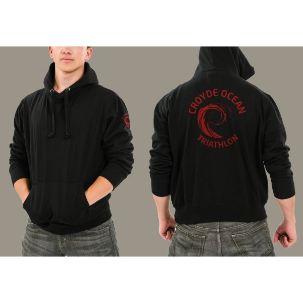 Chunky Hoody with Croyde Ocean Triathlon Logo