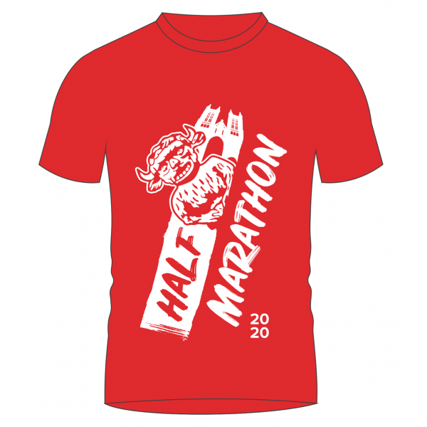 Lincoln Half Marathon T-shirt - supporting the Lincoln City Foundation