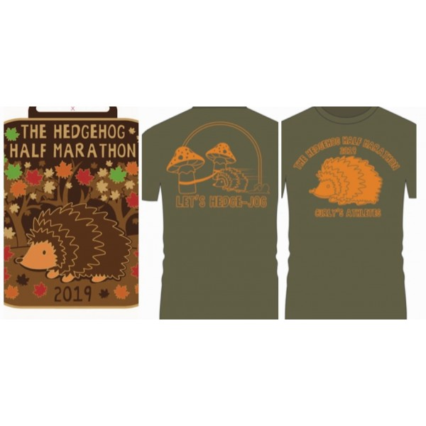 2021 Hedgehog Half Marathon t-shirt